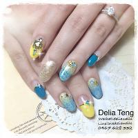 Summer ocean X bohemian nail art 🌞🐠🐚🍹  夏日海洋波西米亞風排鑽