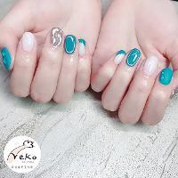藍色海洋水波紋❤️     ⭐️Neko nail studio ⭐️ 🐈Line預約:vilovewi 🐈FB:https://m.facebook.com/nekonailstudio/ (FB搜尋 Neko nail studio) 🐈IG:vivianlin1979