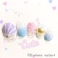 砂糖粉,粉嫩顏色讓夏日好心情🌟 小鱷魚也是我們戲水的小夥伴喔😂 想看更多作品請搜尋 FB:Where nailart