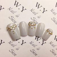 百搭灰色&氣勢排鑽💎 W.Y Nail & Skin care