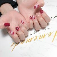暈染紅❤️ -Nails by yen ————————————————— ▫️完全預約制🎀預約Line:haha8125 使用🇰🇷🇯🇵🇺🇸品牌凝膠  #凝膠指甲#新莊#光療凝膠#暈染#凝膠#手繪#Dollygel#新莊美甲#nails