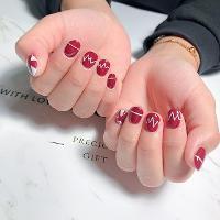 心電圖💞 -Nails by yen ————————————————— ▫️完全預約制🎀預約Line:haha8125 使用🇰🇷🇯🇵🇺🇸品牌凝膠  #凝膠指甲#新莊#光療凝膠#暈染#凝膠#手繪#Dollygel#新莊美甲#nails