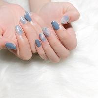 暈染藍💙 -Nails by yen ————————————————— ▫️完全預約制🎀預約Line:haha8125 使用🇰🇷🇯🇵🇺🇸品牌凝膠