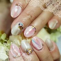 粉紅色礦紋  歡迎搜尋FB粉絲專頁:娃娃藝術指甲 ❤️有更多作品分享 ❤️全手繪 ❤️預約制