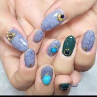 皮草膠+寶石就很美了!